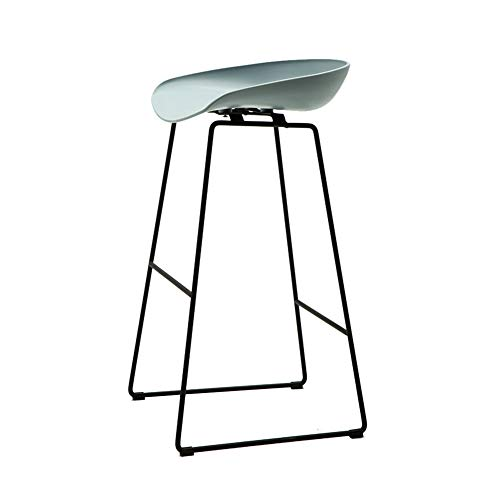 Barstool Nordic PP Plastic Bar Chair, Home Retro Wrought Iron High Chair,Ergonomic Backrest, for Pub/Counter/Cafe/Kitchen/Home