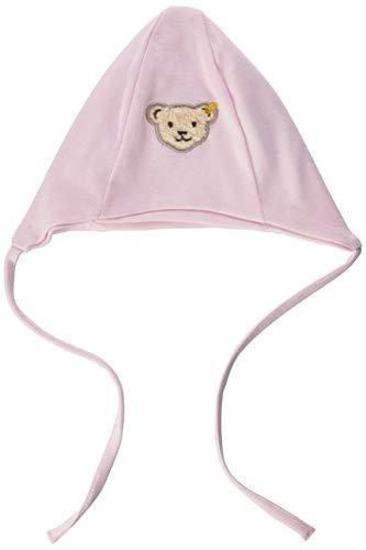 Steiff Unisex Baby Mütze mit Teddybärgesicht Verschluss, Ballerina, 43