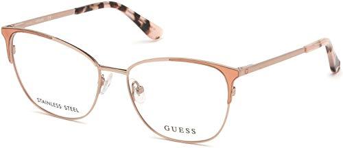 Guess Brille für Vista GU2705 074 rosa-rahmen metall größe 53 mm brille für damen