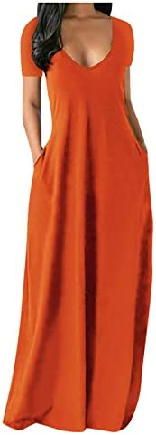Maxi Dresses for Women Summer Dress for Women Casual Fashion Plus Size V Neck Sleeveless Spaghetti product image