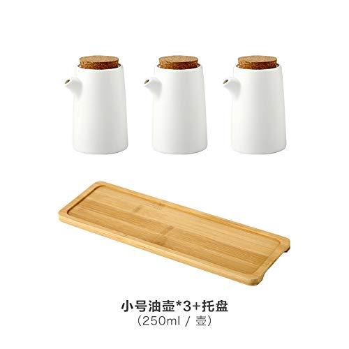 SGAN Cucina di casa Condimento in Ceramica Bottiglia di Olio Bottiglia di Olio Shaker di Sale Ciotola di Zucchero Condimento Scatola di Zucchero salato Set,A10