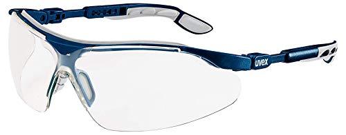 uvex-ivo Schutzbrille - Supravision Excellence - Transparent/Blau-Grau