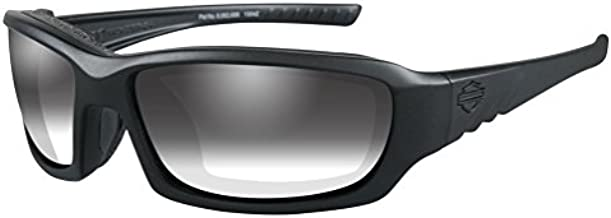 Harley-Davidson Men's Gem Light Adjusting Sunglasses, Matte Black Frame HDGEM03