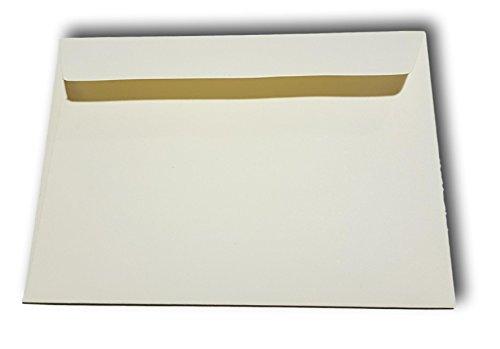 20 Sobres de marfil Prestige cuadrado de lujo para la tarjeta 165 x 165 mm de espesor, 120 g de papel de marfil desea para Navidad y invitación de la boda