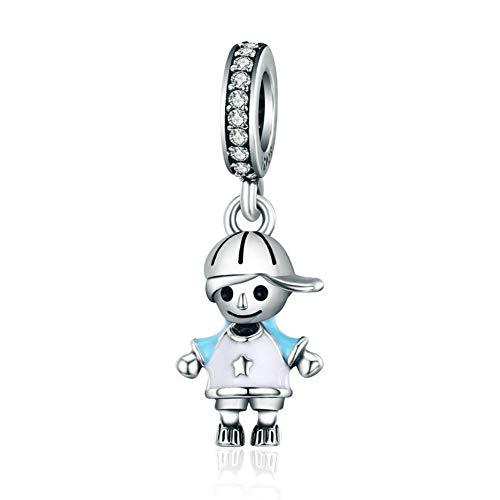 Frosch-Anhänger, 925erSterling Silber, für Pandora-Armbänder, Junge, Kinder junge