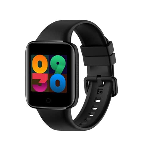 E8 Smart Watch MEDICIÓN DE Temperatura CUERPA DE LA Temperatura Cuadrada DE SMARTWATCH Mujer Hombres Pulsera Inteligente para iOS Android,B