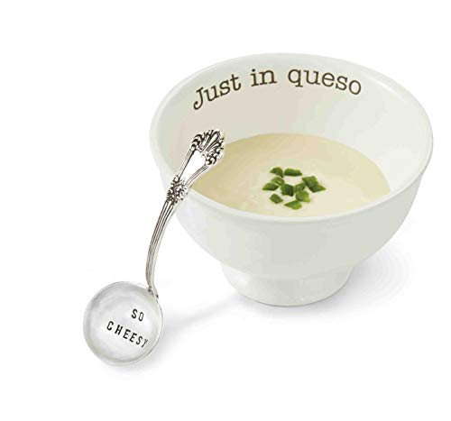 Mud Pie Just in Queso Dip Set, White