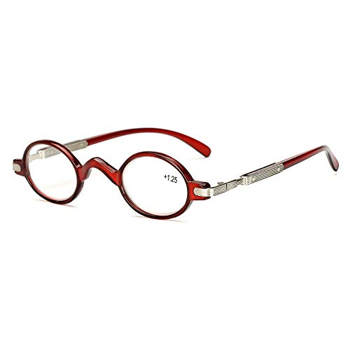 Leesbril Rond Frame Ouderen Leesbrillen for mannen en vrouwen Zaken Glazen Frame Leesbrillen (Color : C4, Size : +150)