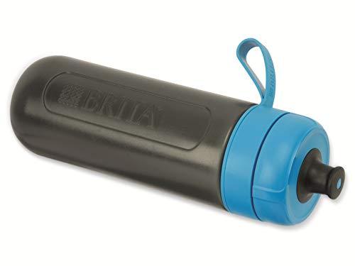 BRITA Wasserfilter-Flasche fill&go Active Blau, Robuste Sport Trinkflasche mit Wasserfilter für unterwegs aus BPA-freiem Kunststoff – Zusammendrückbar