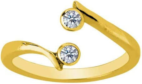 14K Yellow Same day shipping Gold Finish 925 Sterling Solitaire With Silver Max 81% OFF Double