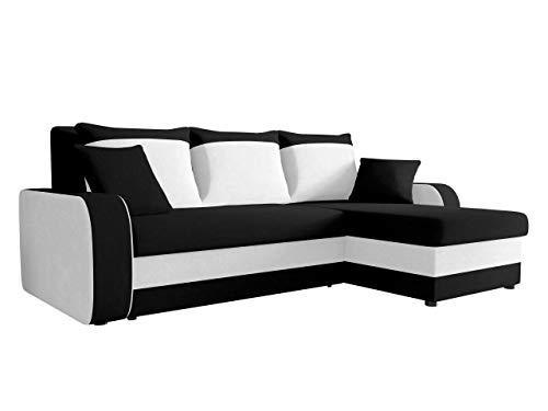 Ecksofa Kristofer, Design Eckcouch Couch! mit Schlaffunktion, Zwei Bettkasten, Farbauswahl, Wohnlandschaft! Bettfunktion! L-Form Sofa! Seite Universal! (Mikrofaza 0015 + Mikrofaza 0031)