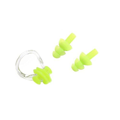 LEVEL GREATSilikon Schwimmen-Nasen-Klipp mit Ohr-Stecker-Set Clip und Ohr für Schwimmen oder Anderen Wassersport