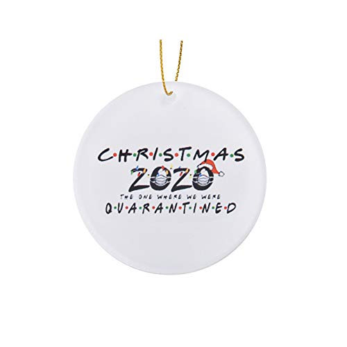 Fanteecy 3Pcs Personalized 2020 Christmas Ornaments Quarantine Family Hanging Ornament for Christmas Decorations Tree Home Decor Xmas Gifts