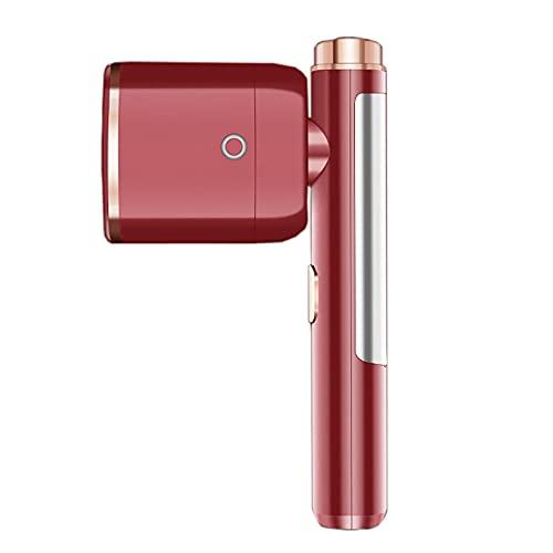 ChengBeautiful Máquina De Planchar De Mano Máquina de Planchado de Prendas de Mano Poder eléctrico portátil pequeño para Uso doméstico Máquina de Planchar (Color : Red, Size : 5.8x14x25CM)