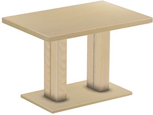 B.R.A.S.I.L.-Möbel Brasilmöbel Säulentisch Rio UNO 120x80 cm Birke Tisch Esstisch Pinie Massivholz Esszimmertisch Holz Küchentisch Echtholz Größe und Farbe wählbar