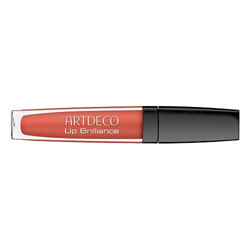 Lip Brilliance Lip Gloss, 29, starker Lachs Lippenpflege mit Hyaluron, LSF 6, Artdeco