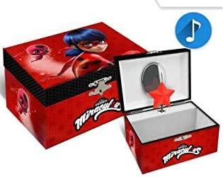 Miraculous - Joyero con forma de cofre (incluye pulsera de cuentas y 1 pieza de Ladybug