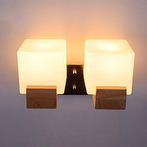Cuican wandlamp, van hout, modern design, creatief glas, warme wandlamp, voor kinderkamer, decoratie
