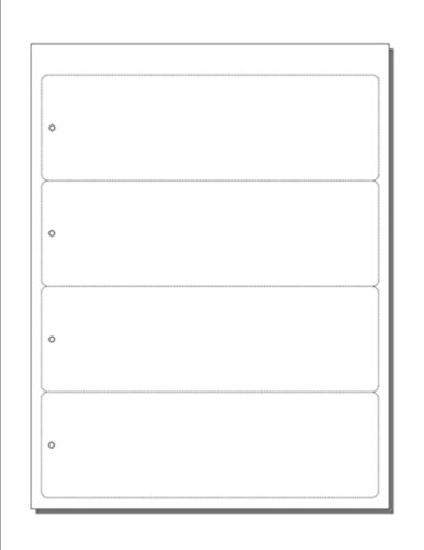 Print-Ready Bookmarks, 2-1/2' x 8' w Hole, 4-UP Perfed for Separation on White 8-1/2' x 11' 65lb Astrobright Cover Paper - 250 Sheets / 1,000 Bookmarks