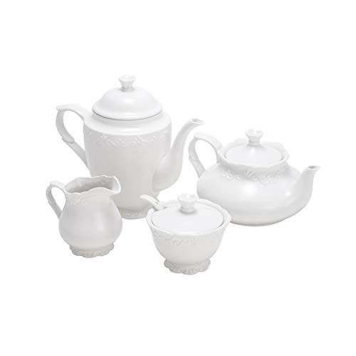 Cj 4 Peças para Chá de Porcelana Rojemac Branco