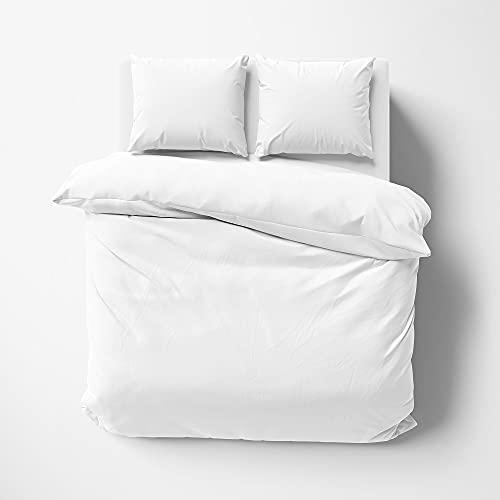Kotton Culture Premium Duvet Cover 100% Egyptian Cotton 600 Thread Count with Zipper & Corner Ties Luxurious Bedding (Queen/Full, White)