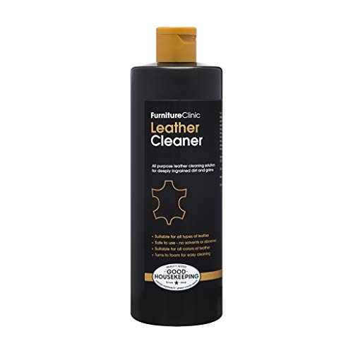 Furniture Clinic Leather Ultra Clean (500ml) - All-Purpose Leather Cleaner   Car Interior Cleaner and Leather Cleaner for Furniture, Sofas, Shoes, Boots, Bags, Purses   Suitable for all Leather Types and Colours