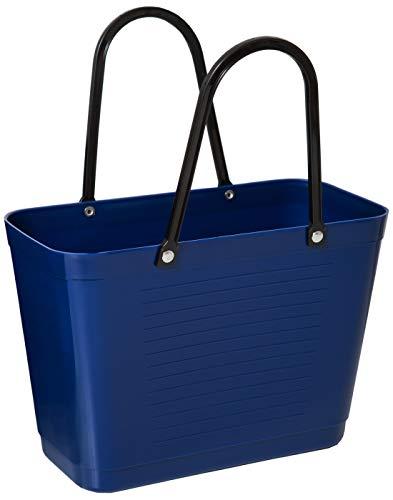 Hinza Kunststofftasche Tasche klein 7,5 L blau mit Henkel 38x32x15cm Kunststoff Shopper Plastik Tragetasche Mehrweg Shoppingbag Einkaufstasche Einkaufskorb BPA-frei stapelbar Swedish Design