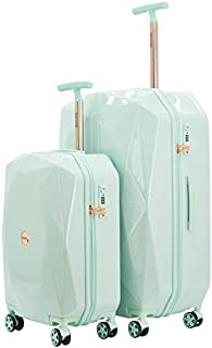 """kensie Women's 3D Gemstone TSA Lock Hardside Spinner Luggage, Mint, 2 Piece Set (28""""/20"""")"""