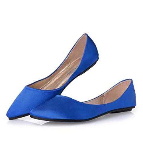 Frauen Schuhe Flache Schuhe Seide und Satin Flache Schuhe mit flachem Absatz Festkleid Bankett...