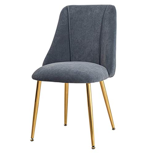 Tulip Dining Chair Office Chair Comfortable Padded Seat Metal Chair Legs Firm Ergonomics Lounge Padded Chic Dining Chair (Color : Gray)