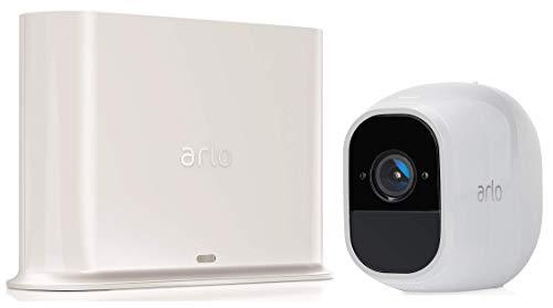 Arlo Pro2 VMS4130P Sistema di Videosorveglianza Wifi con Una Telecamere di Sicurezza, Audio 2 Vie, Batteria, Full Hd, Visione Notturna, Interno/Esterno, Vcr Opz, Funziona con Alexa e Google Wifi