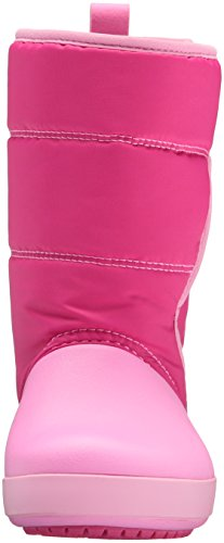 crocs LodgePoint Snow Boot, Candy Party Pink, 6 M US Big Kid