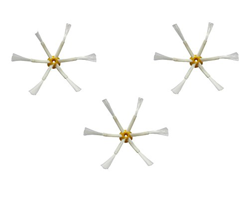 Pack 3 cepillos laterales de 6 aspas compatibles con Roomba series 500, 600 y 700
