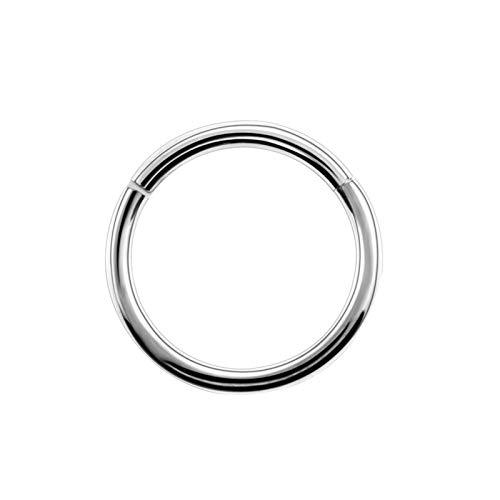 AnazoZ 1PC Pircings para Mujer Acero Inoxidable Aro 10/MM Plata 1.2x10 Pendientes de Nariz Aro