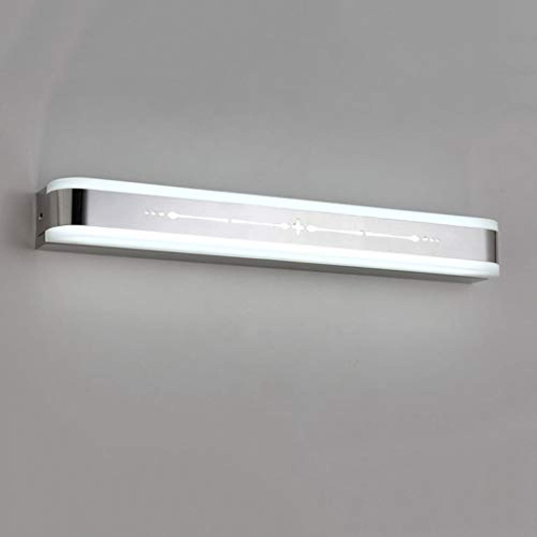WENYAO Die erntezeit Spiegel frontleuchte led haustür Lampe Moderne Wandleuchte badezimmerspiegel Kosmetik licht Edelstahl (Farbe    a)