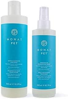 Monat PET Gentle Cleansing Dog WASH & DEODORIZING Spray Duo