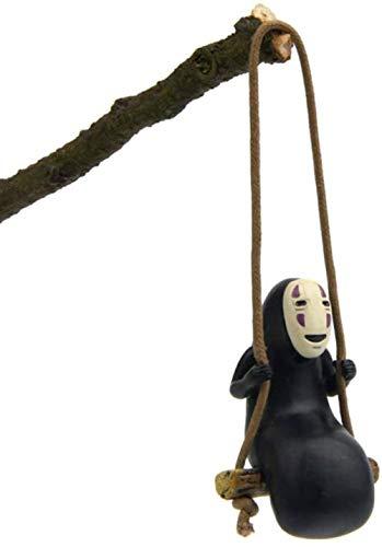 Adorno masculino de anime sin rostro para coche, anime Spirited Away No Face Man, colgante de espejo retrovisor para colgar, decoración de coche