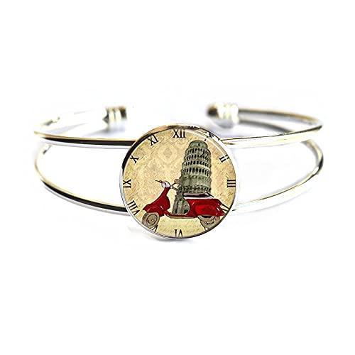 Pulsera de viaje de arte italiano, brazalete diario, regalo perfecto para mamá para amigos, regalo de cumpleaños para ella, PU263