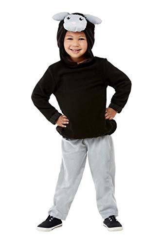 Smiffys 55048T1 Disfraz de oveja, color negro, unisex, para niños de 1 a 2 años