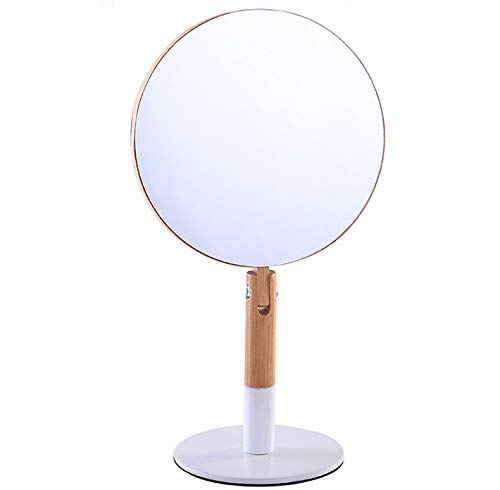 XPXKJ 6-Inch Tabletop Vanity Makeup Mirror Bamboo Folding Double-Sided Vanity Mirror with 3X Magnification ( Bamboo Primary Color)