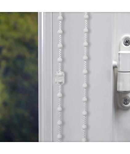 Chainette Plastique de 5 mètres pour Store Enrouleur avec 1 raccord - E34 Blanc