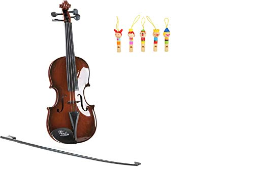 Viool klassiek een klassieke viool voor muziekliefhebbers kinderen. Bestaande uit een zwarte boog met kunststofharen en een kunststofviool in houtlook, maakt musceren veel plezier. Met deze viool kan de interesse van kinderen in de schilderinstrumenten gewekt en geperst. Muziekinstrument voor kinderen.