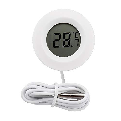 ILS - 10 stuks ronde elektronische digitale LCD-thermometer temperatuurmeter voor binnen en buiten temperatuur instrumenten met buitensensor