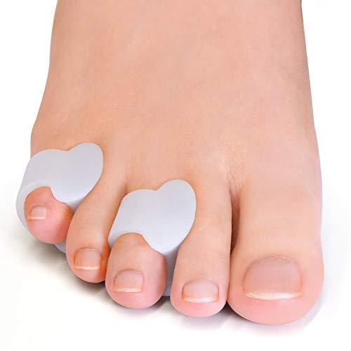 Welnove - Separadores de dedos de gel, espaciadores de dedo pequeño del pie, almohadillas para evitar el frotamiento y aliviar la presión (paquete de 12)