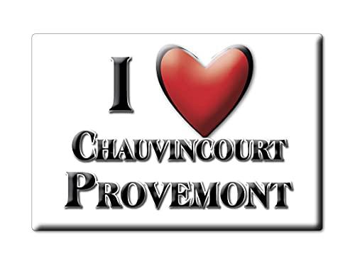 Enjoymagnets CHAUVINCOURT PROVEMONT (27) Souvenir IMANES DE Nevera Francia Poitou Charentes IMAN Fridge Magnet Corazon I Love