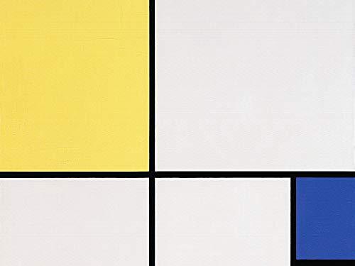 1art1 Piet Mondrian - Komposition Mit Gelb Und Blau, 1932 Poster Kunstdruck 80 x 60 cm