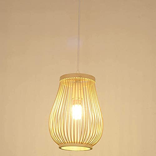 N\C Lámpara Colgante de la Linterna de Estilo Retro, lámpara de bambú, Dormitorio Sala de Estar Techo araña de Techo araña lámpara de bambú Bar Cafe Club Colgando lámpara E27