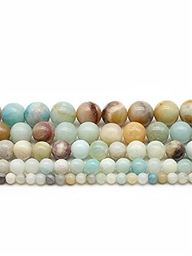 Cuentas redondas de piedra natural para hacer joyas de 4/6/8/10/12 mm Gema suelta cuentas DIY pulsera collar multi 10mm aprox 38beads