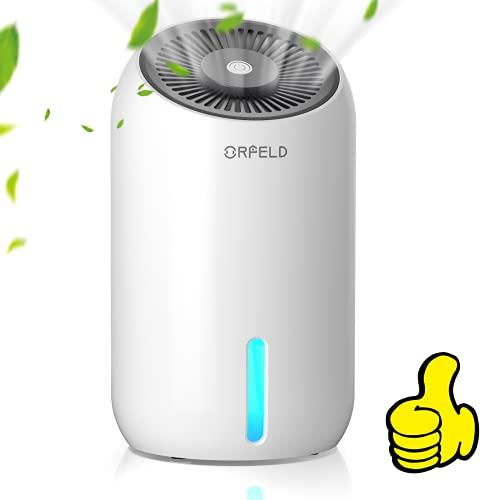 ORFELD Dehumidifier, 30oz(860ml) Dehumidifiers for Home, 2200 Cubic Feet(240sq ft) Small Dehumidifier with 7 Colors LED Light, Portable Quiet Dehumidifier for Basements, Bathroom, Bedroom, RV