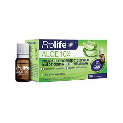 Zeta Farmaceutici Prolife Aloe 10X Integratore Probiotico, 10 Flaconi Da 8ml